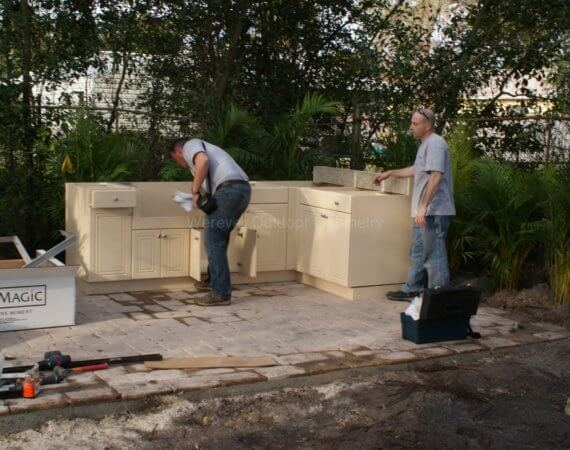 how to install outdoor cabinets